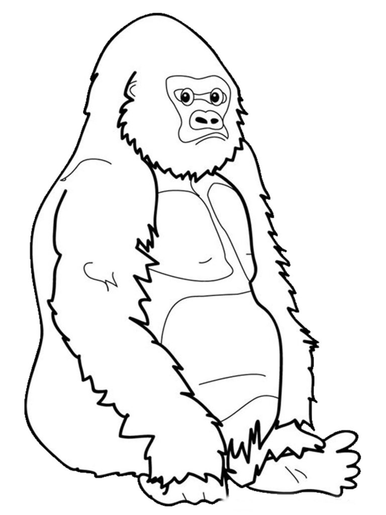 Easy Ape Coloring Pages