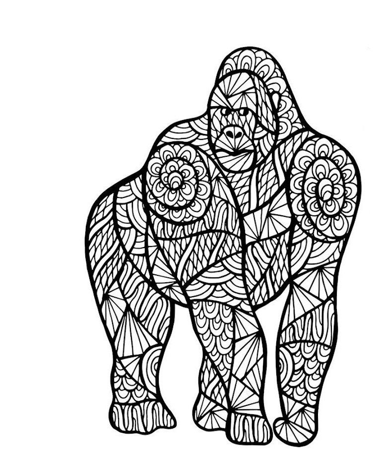 Zen Ape Coloring Pages For Adults