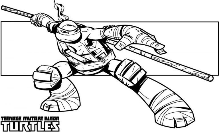 Bow Staff – Teenage Mutant Ninja Turtles Coloring Pages