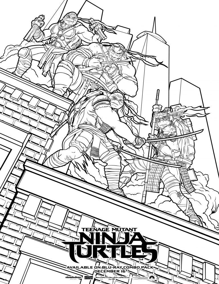 Color Teenage Mutant Ninja Turtles