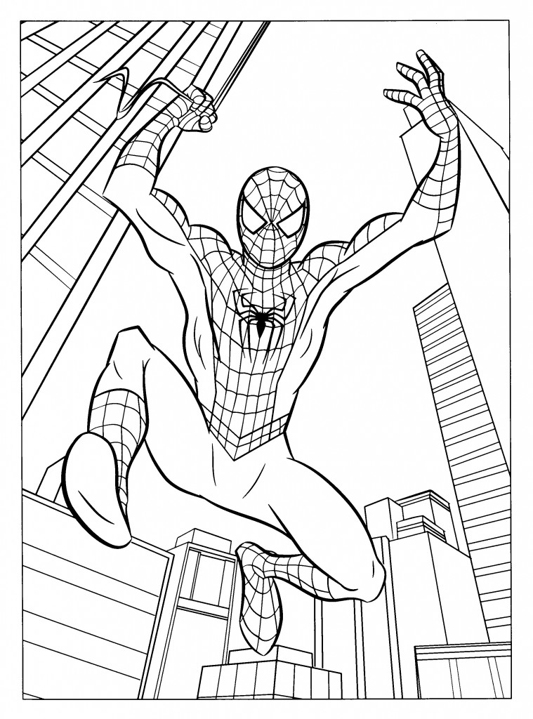 Coloring Pages of Spider-man