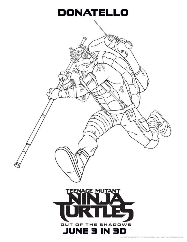 Donatello – Teenage Mutant Ninja Turtles Coloring Pages