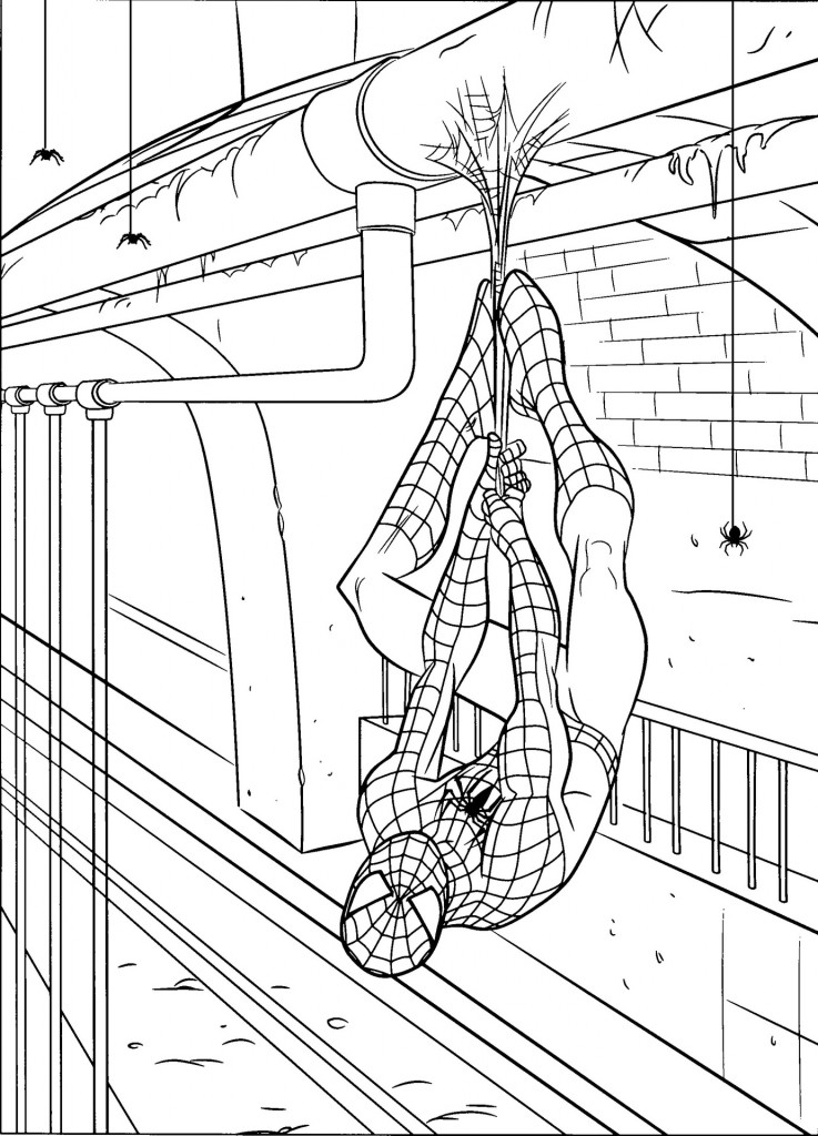 Free Spider-man Coloring Pages