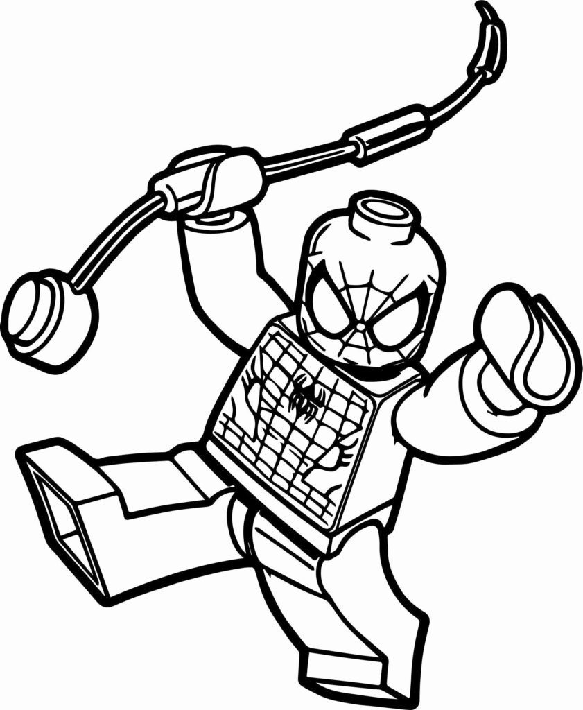 Lego Spiderman Coloring