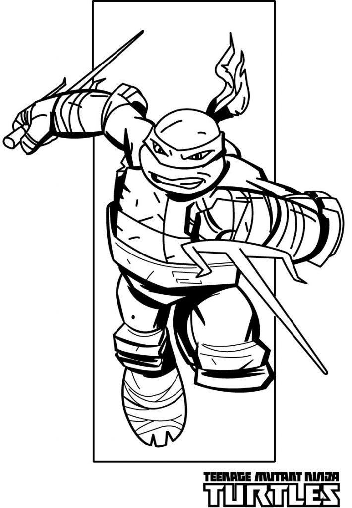 Ninja Sais – Teenage Mutant Ninja Turtles Coloring Pages