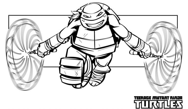 Nunchucks – Teenage Mutant Ninja Turtles Coloring Pages