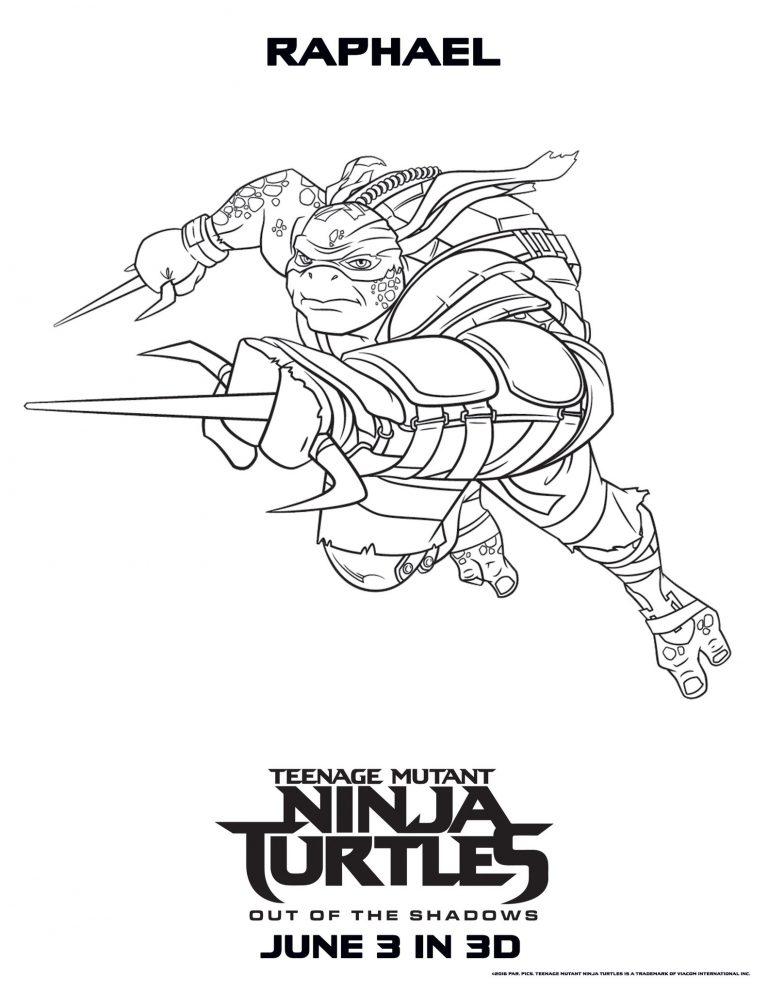 Raphael – Teenage Mutant Ninja Turtles Coloring Pages