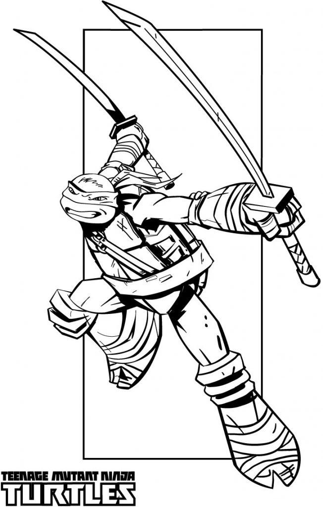 Swords – Teenage Mutant Ninja Turtles Coloring Pages