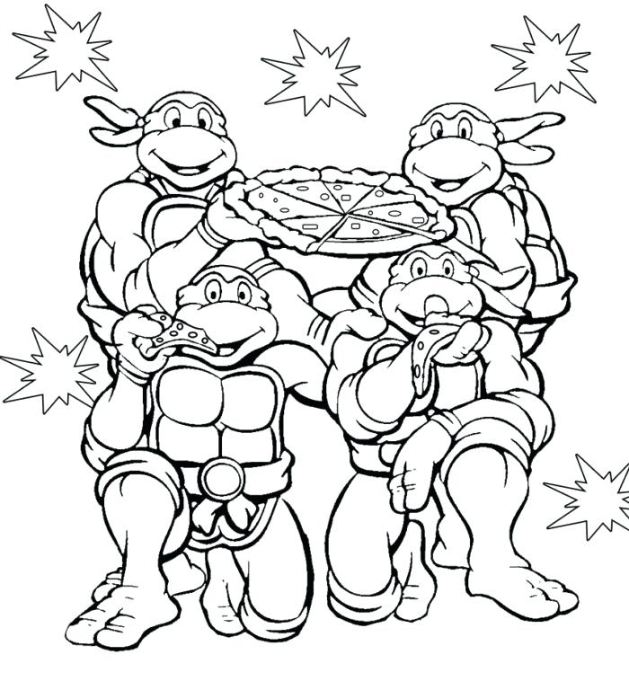 TMNT Coloring Page to Print