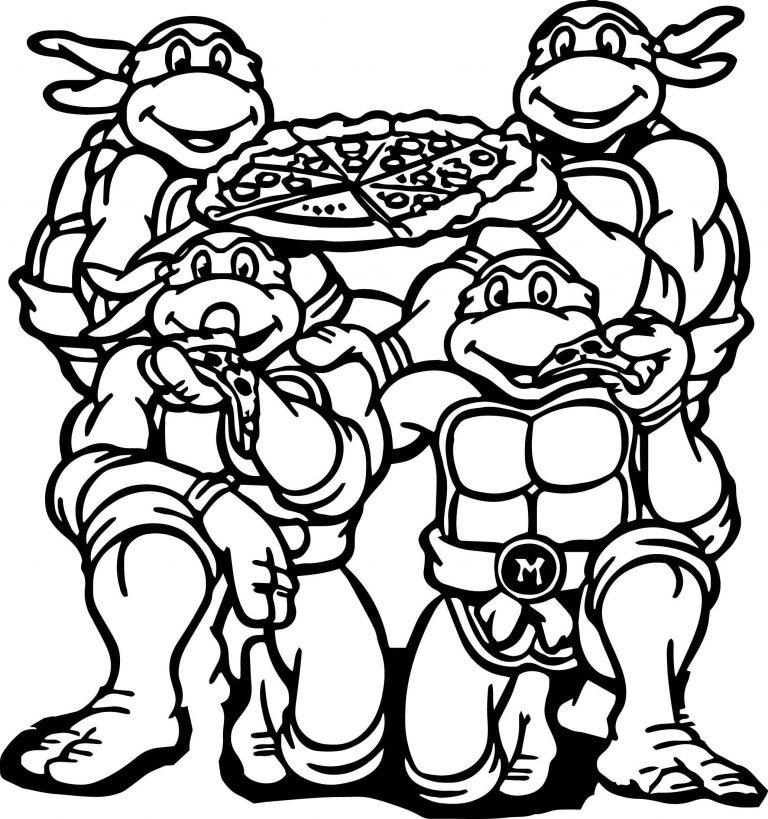 Teenage Mutant Ninja Turtles Coloring Pages