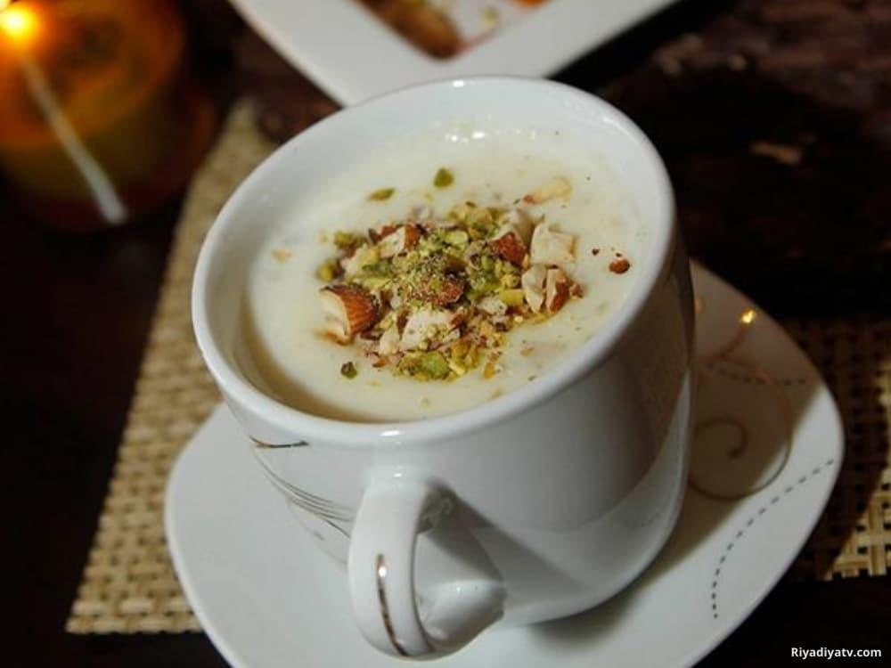 قهوة اللوز الحجازية بطريقة سهلة ولذيذة | الفرق بين قهوة اللوز والسحلب