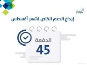 حساب المواطن يودع الدعم المخصص لشهر أغسطس للمستفيدين